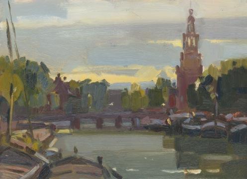 Amsterdam in ochtendlicht